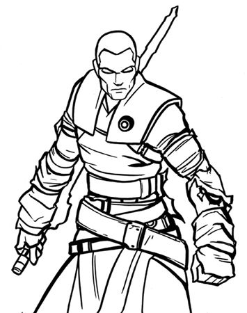 starkiller coloring page by Firefury299 on DeviantArt | LineArt ...