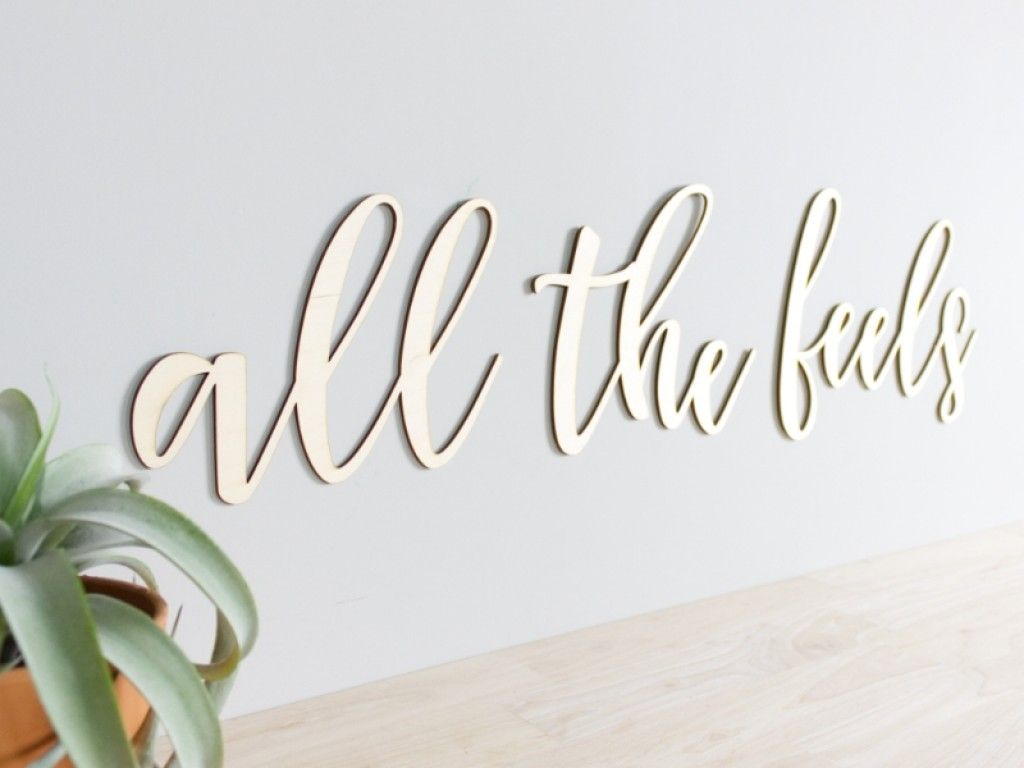 All The Feels Script Wood Letters Craftcuts Com Wood Letters Wood Lettering