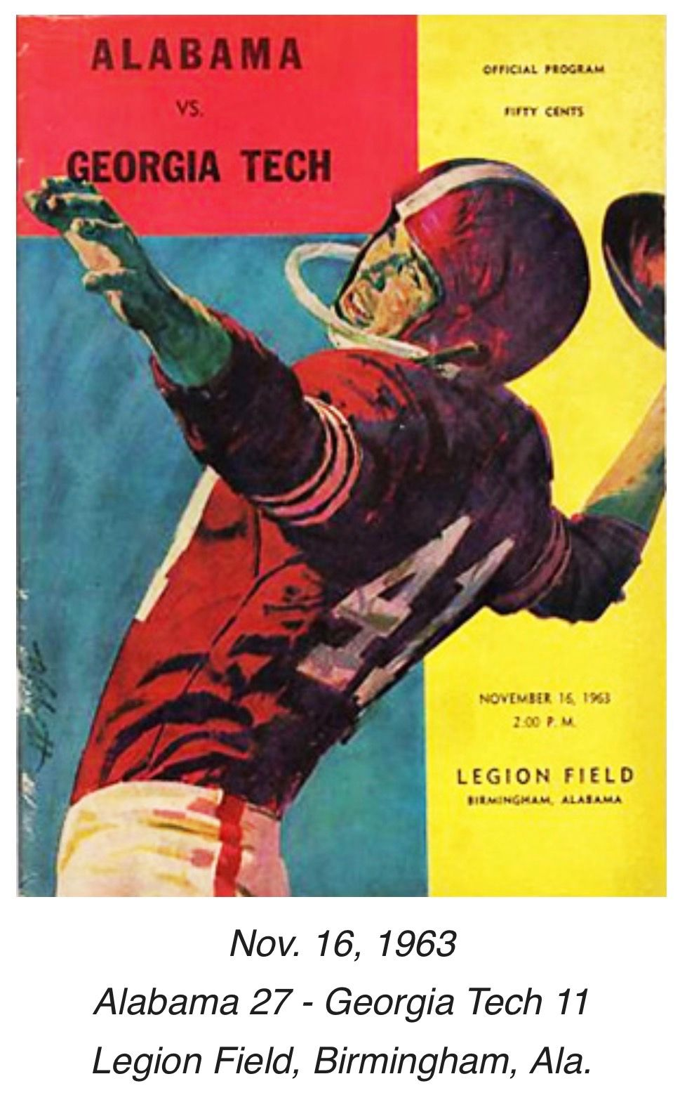 Historic Alabama Game Programs from