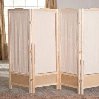 Natural Shutter 4 Panel Room Divider Screen Home Living Room Bedroom Furniture