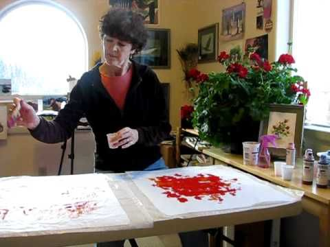 My Alaskan friend Suzie  Althens has some great YouTube videos for making collage.