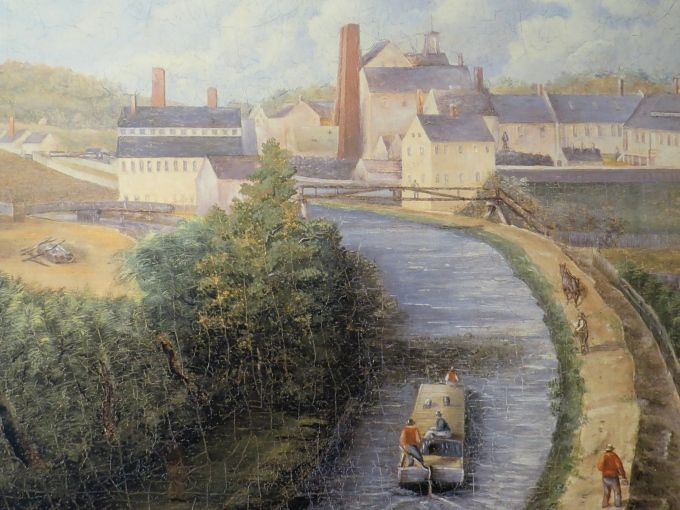 Painting Of Blackstone Canal Blackstone National Parks Heritage