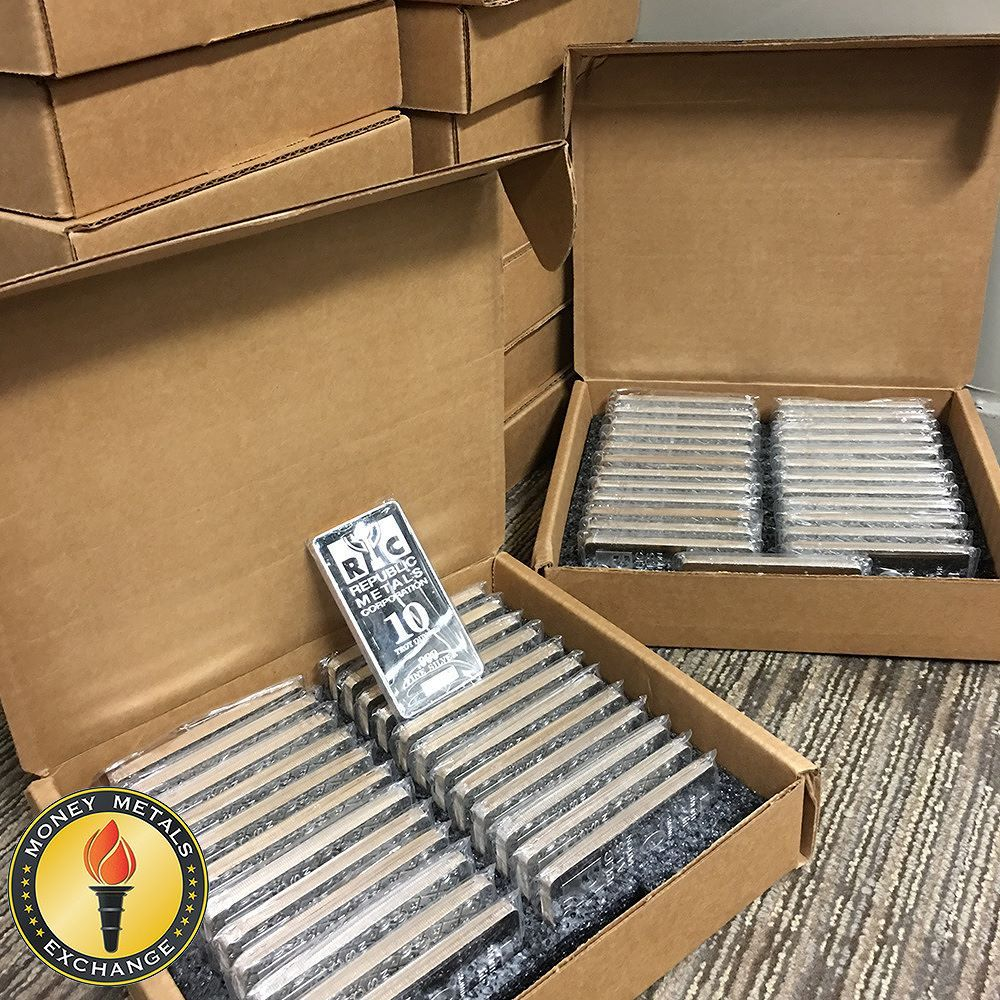 10 Oz Silver Bars For Sale 10 Troy Weight Bullion Money Metals Exchange Silver Bars Gold Money Gold Today