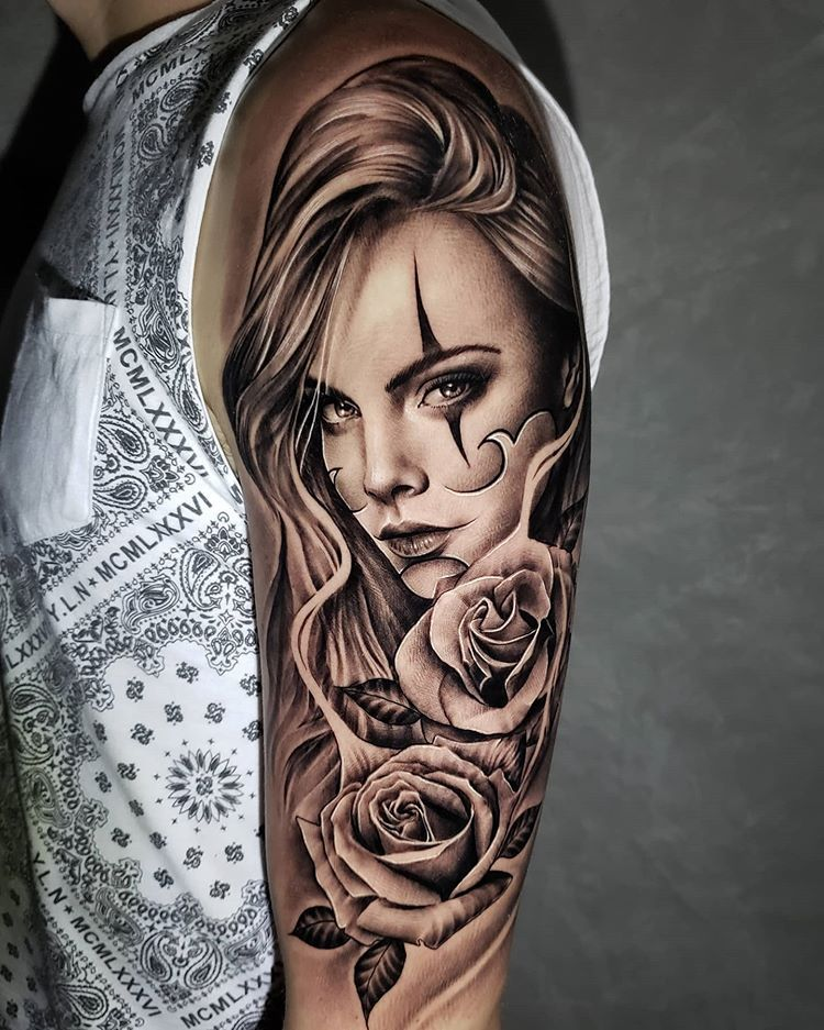 👩🏻 🙏🏻⚡👏 Chicano Woman Artist: @netocoutinhotattoo Country: BR ——————————————————————— ⚜️FOLLOW⚜️ @skingiants for daily tattoos! Sharing only the best tattoos Artists on instagram —————————————————————— #realismtattoo #blackandgreytattoo #skingiants #tattooist #tattoolove #tattooed #tattoosleeve #tattoodesign #tattoolover #tattooworld #tattoosofinstagram #tattoolovers #tattooarm #inked #tat #tats