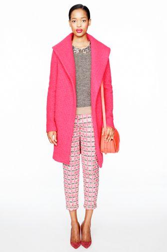 J.Crew's Army Of Mini Jennas In Statement Pants, Neon Sweaters,