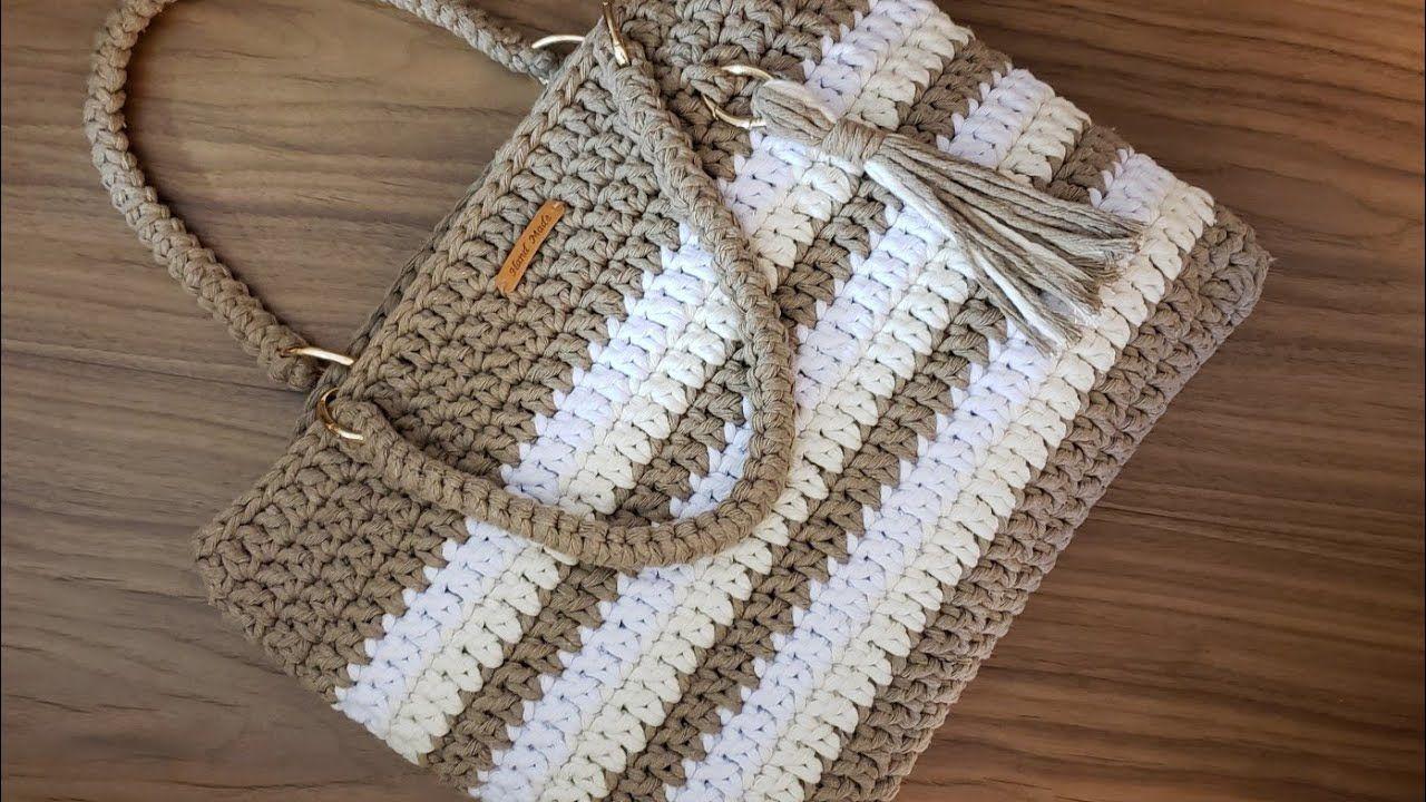 Bolsa de Crochê Com Barbante – Fio Spesso – Tutorial de Crochê – Purse Tutorial – Crochet Bag – DIY