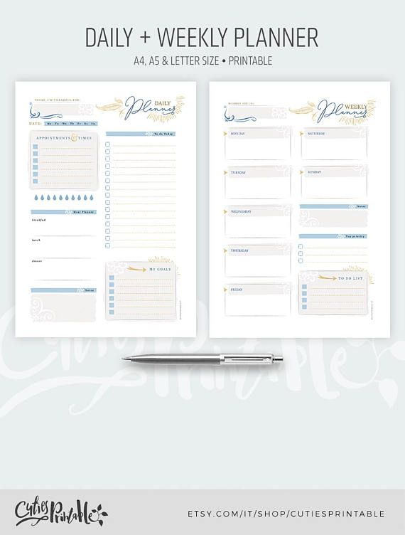picture relating to Digital Day Planner identify Electronic Day-to-day Weekly Planner Notepad - Printable Planner