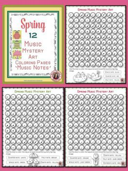 Music lessons   |   music education   |Music Coloring Sheets: Seasons Music Coloring Pages Bundle: Music Mystery Art    #musiceducation    #musiced
