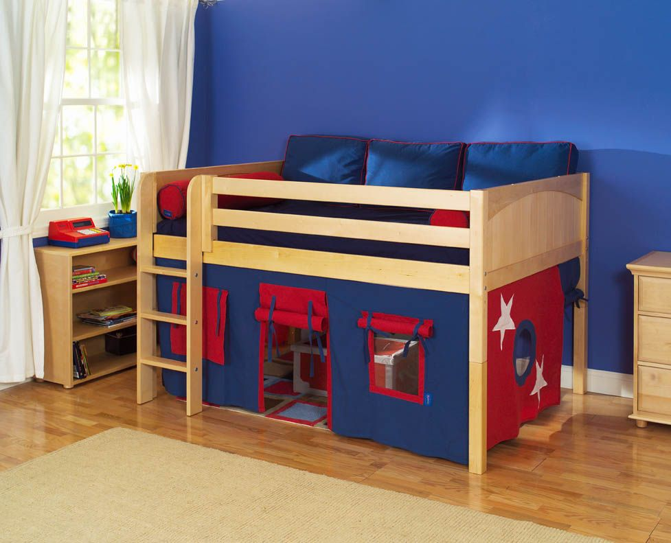 Cool Bunk Bed Fort Maxtrix Kids One Story Playhouse Beds
