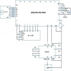 Circuit Diagram Of Type And Send Sms Using Ps2 Keyboard And Gsm Module With Arduino Arduino Circuit Diagram Sms