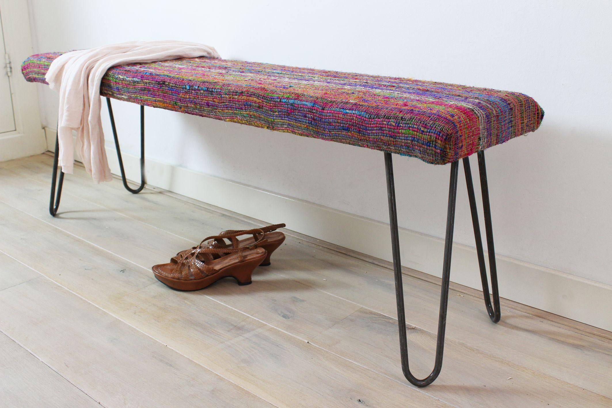 slaapkamer bankje met MaximaVida hairpin-legs. | Maximavida ...