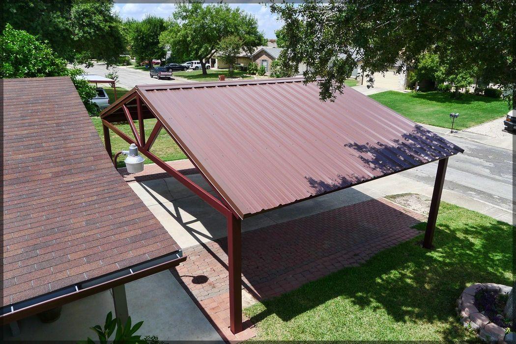 Free Standing Steel Carport Pictures Kirby Job San Antonio