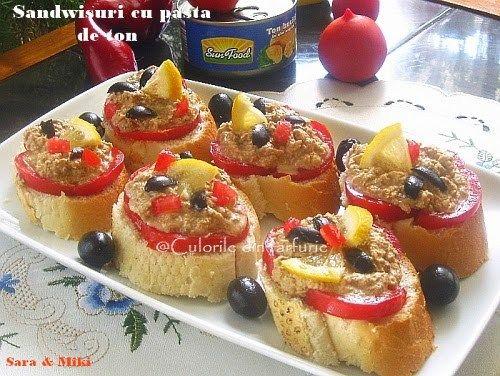 » Sandwisuri cu pasta de tonCulorile din Farfurie