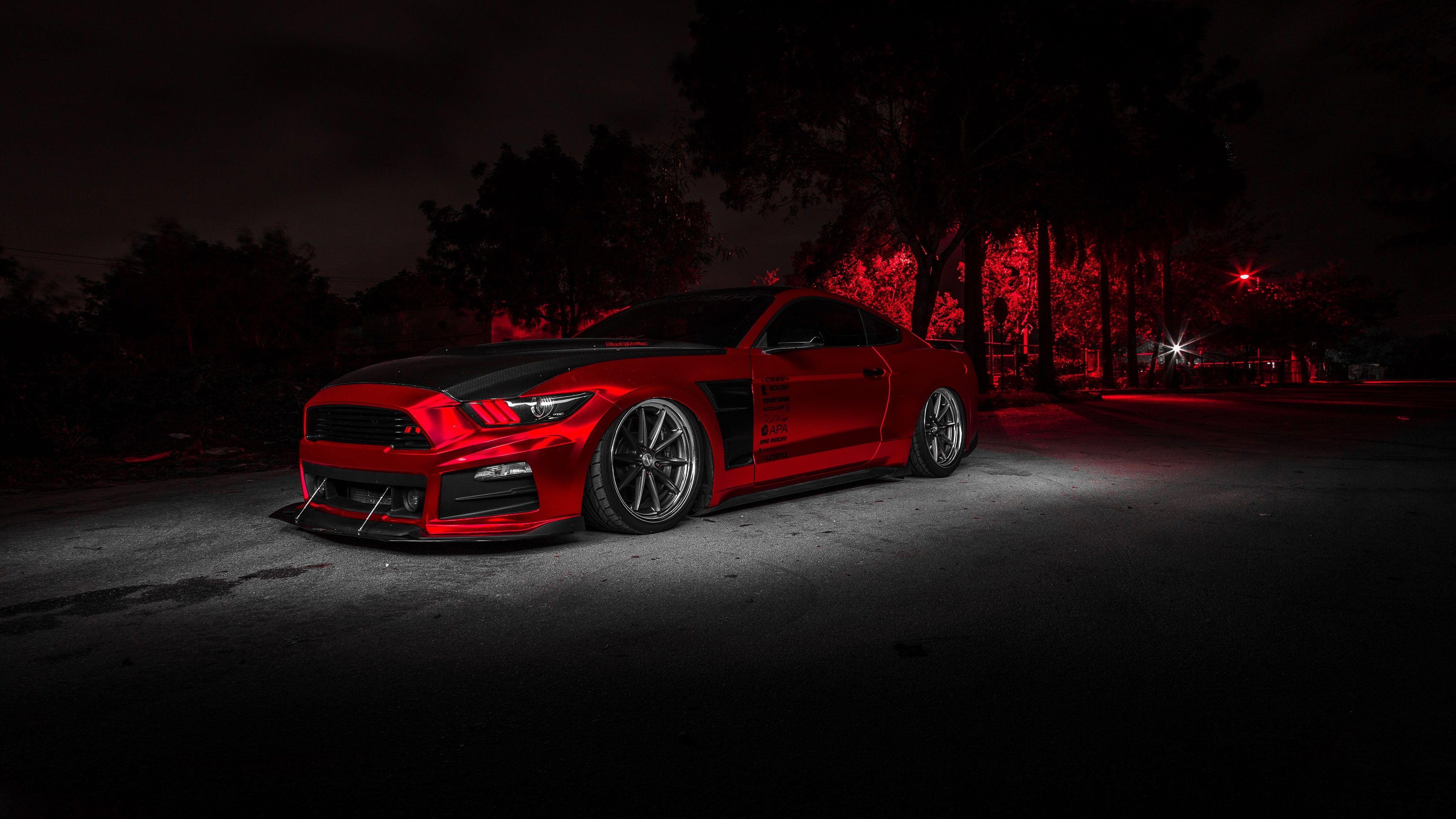 Wallpaper Red Car Design Ford Mustang Automotive Design Vehicle Sports Car Sports Car Wallpaper Car Wallpapers Black Car Wallpaper
