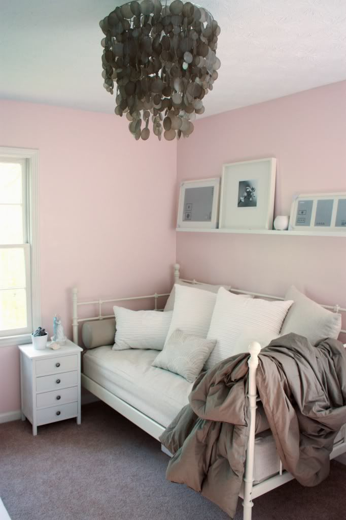 Our First House Light Teal Spare Room And Pink Walls - Light teal bedroom ideas