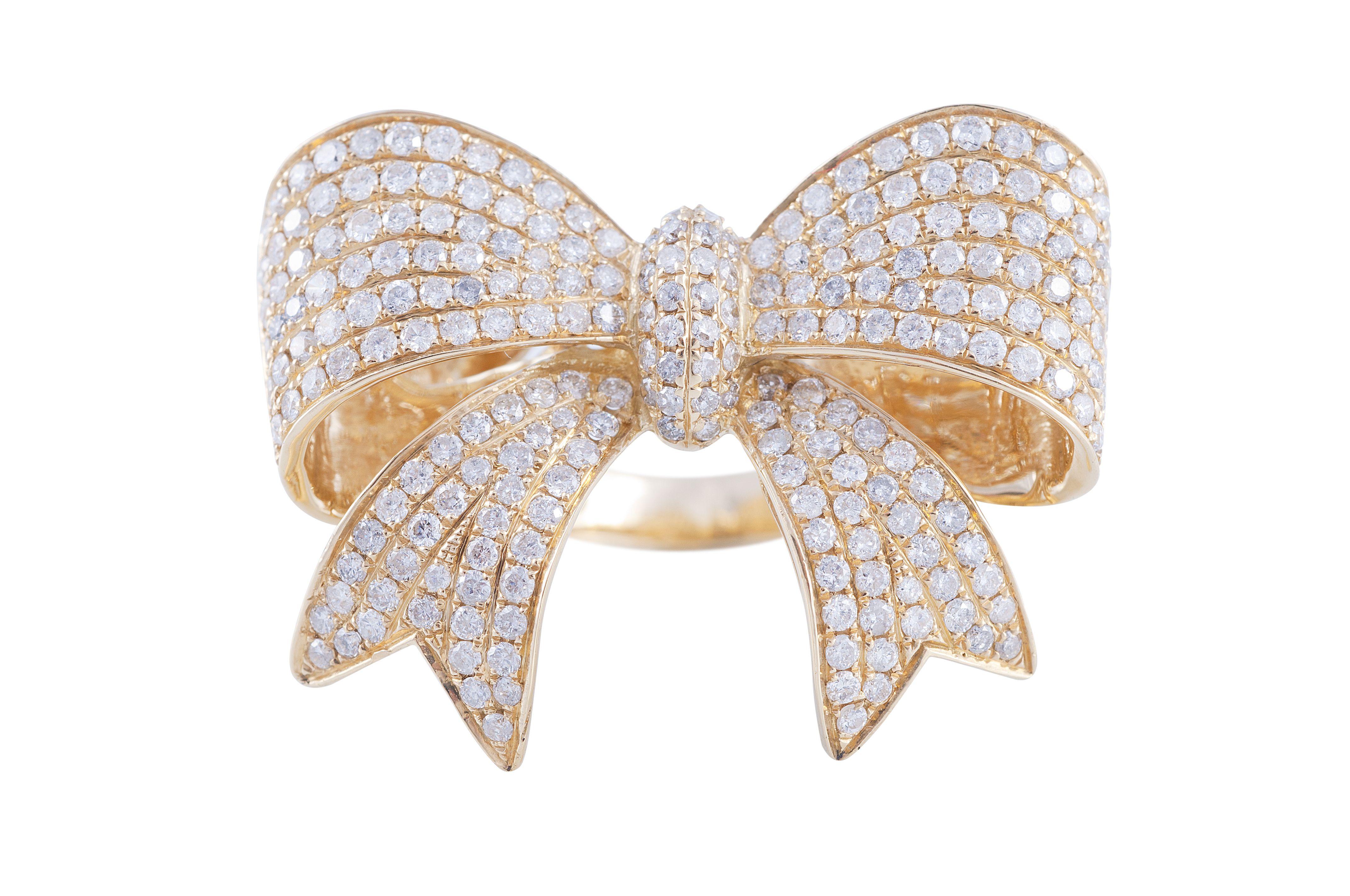 746c526f536 Anel Laço em ouro amarelo e diamantes