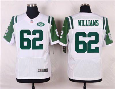 the latest fca69 87cbc Nike New York Jets #62 Leonard Williams White Elite Jersey ...