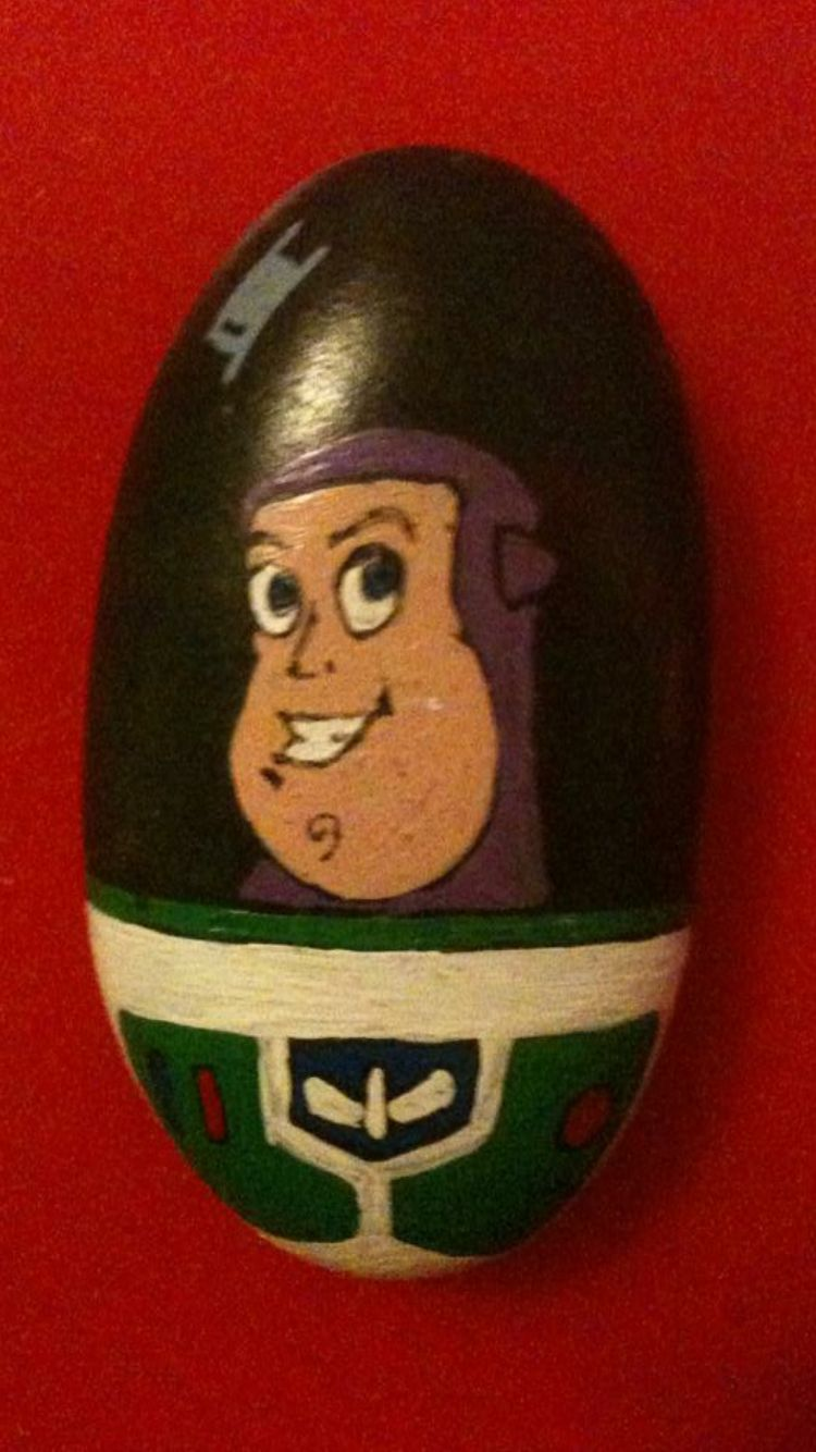 Buzz Lightyear Painted Rock Acrylic Paint Rock Painting