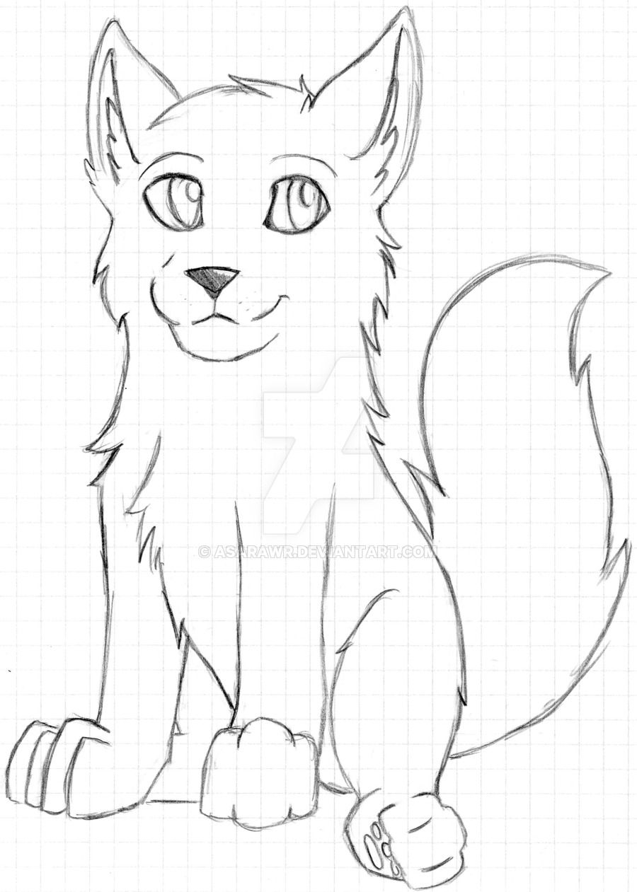 Photo of Unfinished Wolf Pup by AsaRawr on DeviantArt