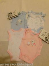 BABY BABIES PINK BLUE 2 PACK VESTS SMALL TINY PREMATURE PREM PREEMIE BOY BOYS