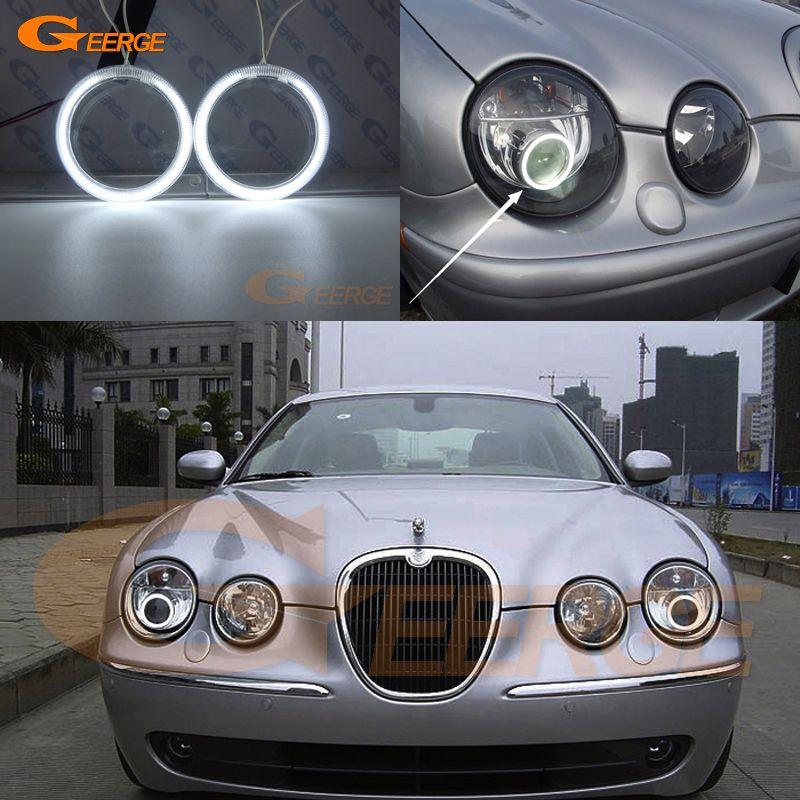 For Jaguar S Type S Type 2003 2004 2005 2006 2007 2008 Hid Headlight Excellent Ultra Bright Illumination Ccfl Angel Eyes Kit Jaguar S Type Jaguar Car Lights