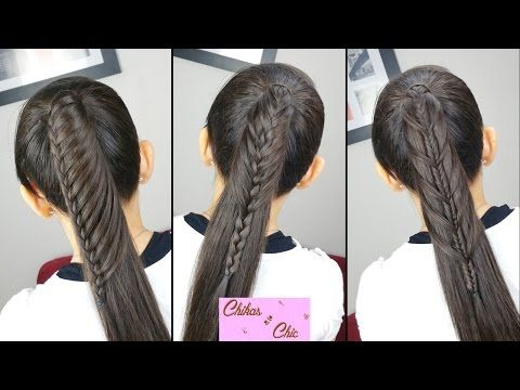 Peinados faciles y rapidos Cola con todo el cabello (3 Opciones