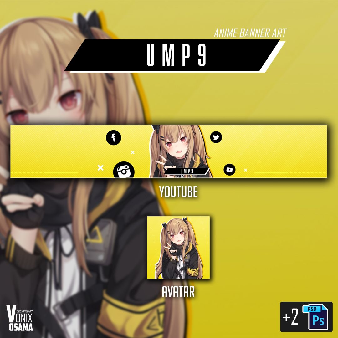 UMP9 Girlsfrontline (Anime Banner) you can download this