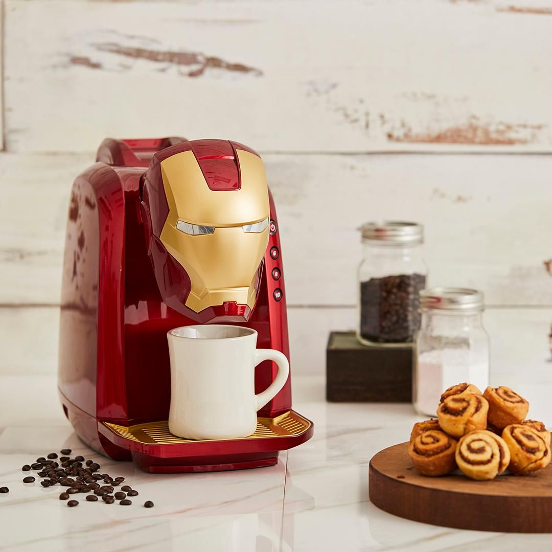 Start the day with a heroic cup of coffee | Marvel Iron Man Single Cup Coffee Maker