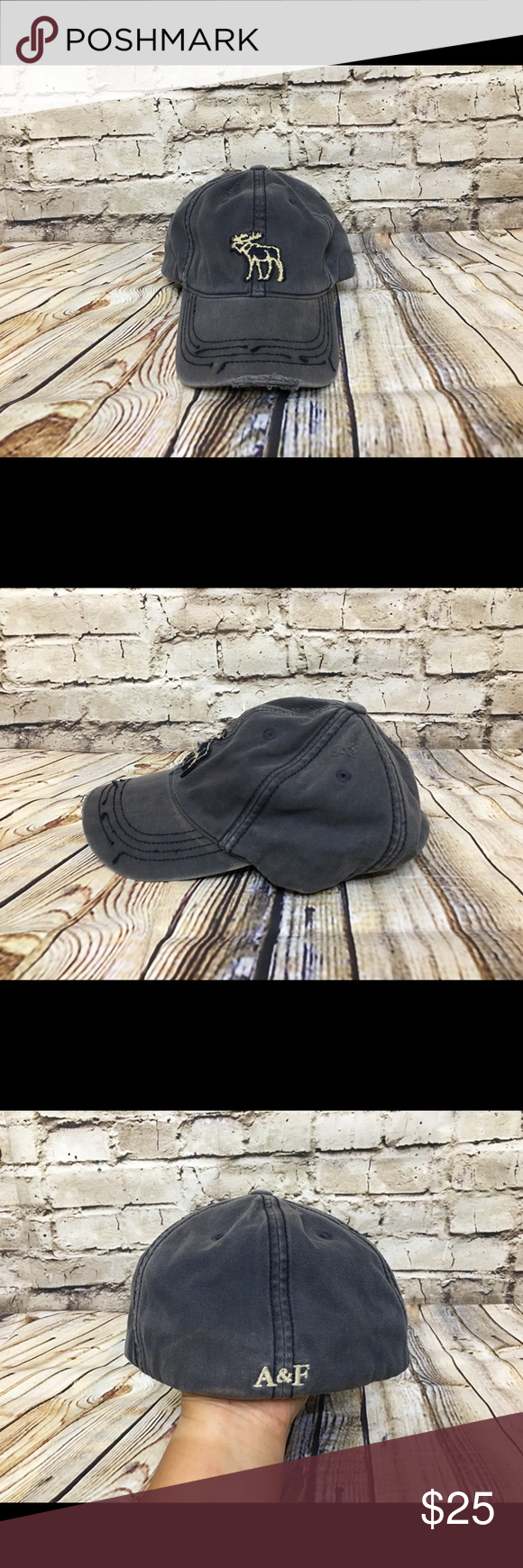 93a4da668a4 Abercrombie embroidered moose fitted baseball hat Preowned Abercrombie  baseball cap. With embroidered moose logo in