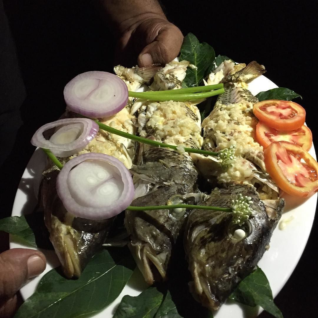 #Dinner time at the #ValampuriResort. Fresh Coral Hind #fish  from #Kalpitiya fishermen . Locally called Miniata we served it #SriLanka style to our guests' delights ! Enjoy!
