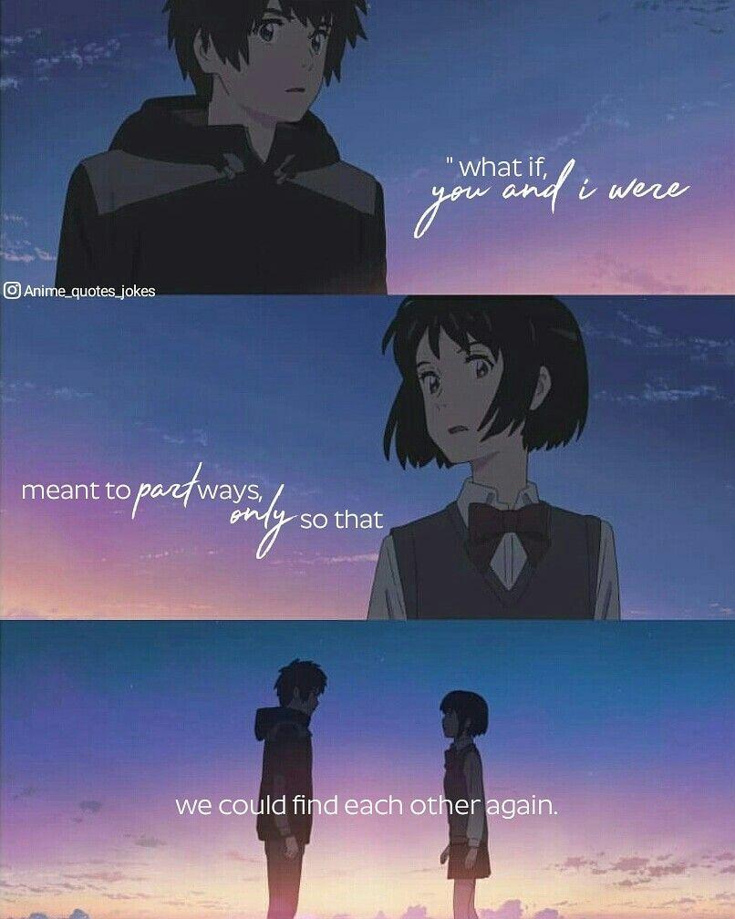 Kimi No Na Wa Your Name Anime Quotes Animequotes Kimi No Na Wa Your Name Anime Quotes Animequotes The Effecti Your Name Anime Anime Love Quotes Anime Quotes Anime sad quotes wallpaper