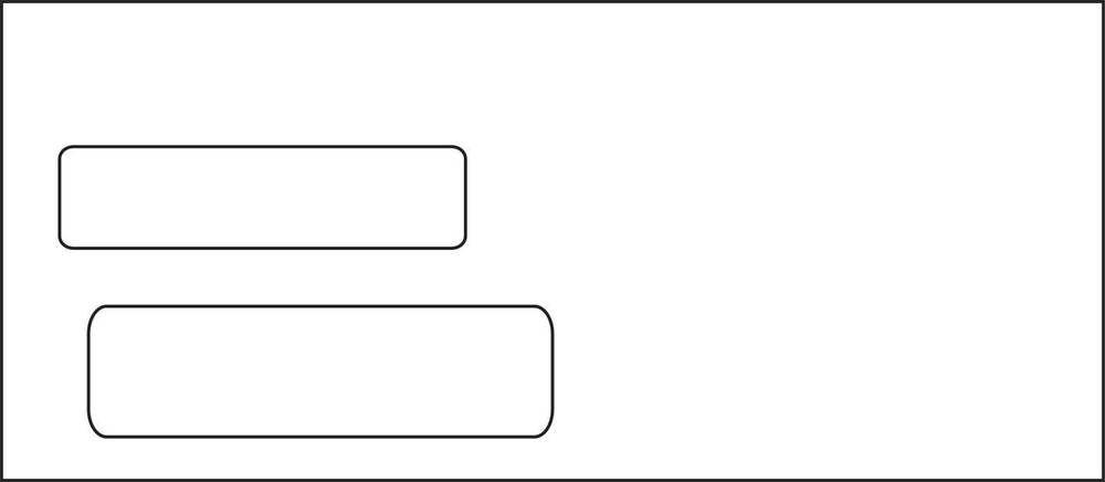 10 Double Window Envelopes White Wove Free Shipping In Stock 1000 Lot Envelopespot Window Envelopes Double Window Envelope
