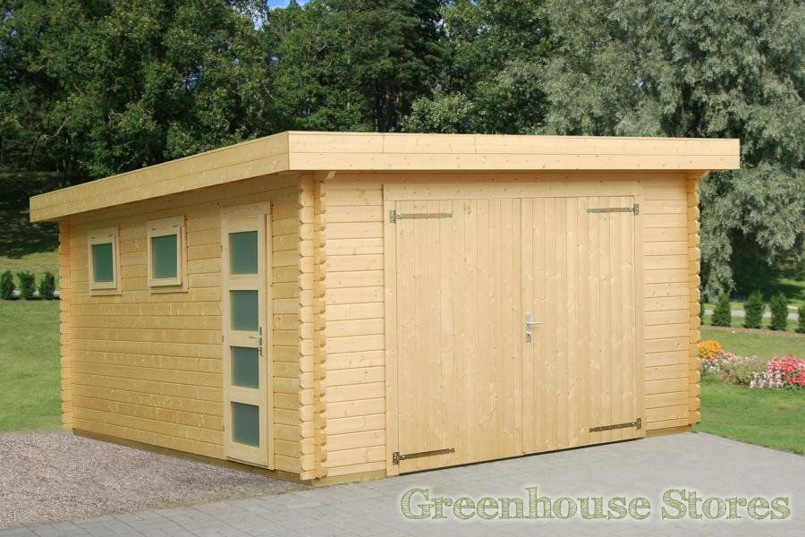 Palmako Rasmus 19msq Wooden Garage with Wooden Door Gardens