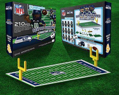 Seattle Seahawks OYO Game Time Set 210 pcs 12 figures NFL Football ...