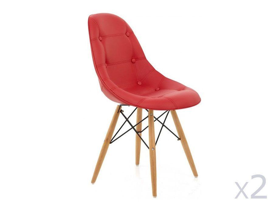 Ces chaises, à la fois confortables et élégantes, apporteront une touche de gaieté et de fraicheur à votre intérieur. Son assise rembourrée et ses ...