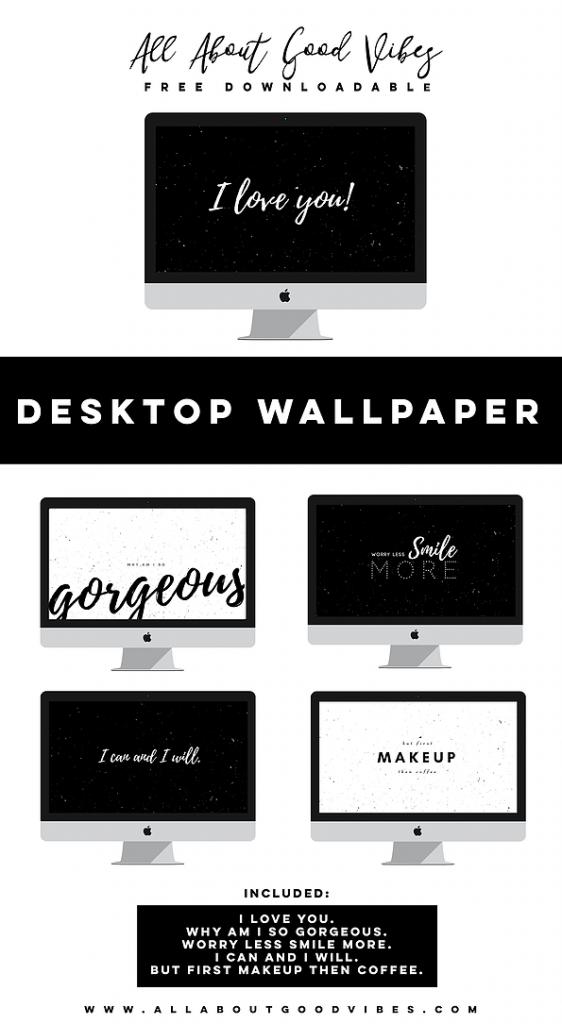 Free Downloadable Black and White Desktop Wallpaper