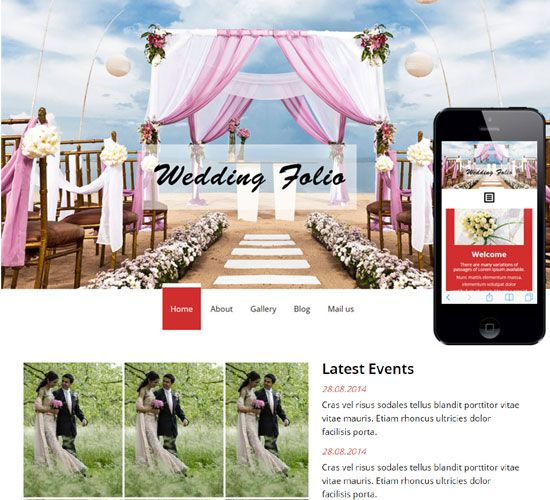 Free Website Templates Html Bootstrap Wedding Template Templates Download  Free Website
