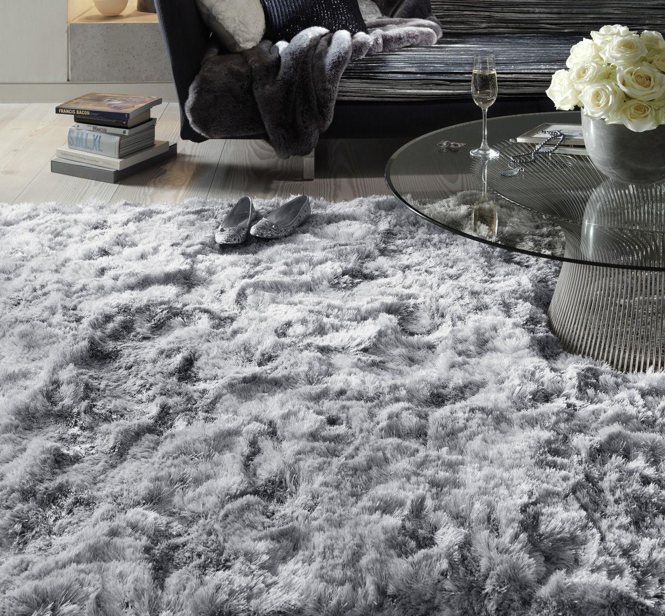 Plush Silver Rug Rugs In Living Room Fur Rug Living Room Furry Rugs