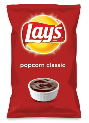 Wouldn't popcorn classic be yummy as a chip? Lay's Do Us A Flavor is back, and the search is on for the yummiest chip idea. Create one using your favorite flavors from around the country and you could win $1 million! https://www.dousaflavor.com See Rules.