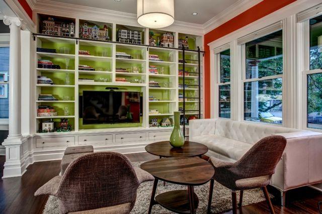 Wohnzimmer Farbgestaltung \u2013 28 Ideen in Grün #farbgestaltung #ideen - Wohnzimmer Design Grun