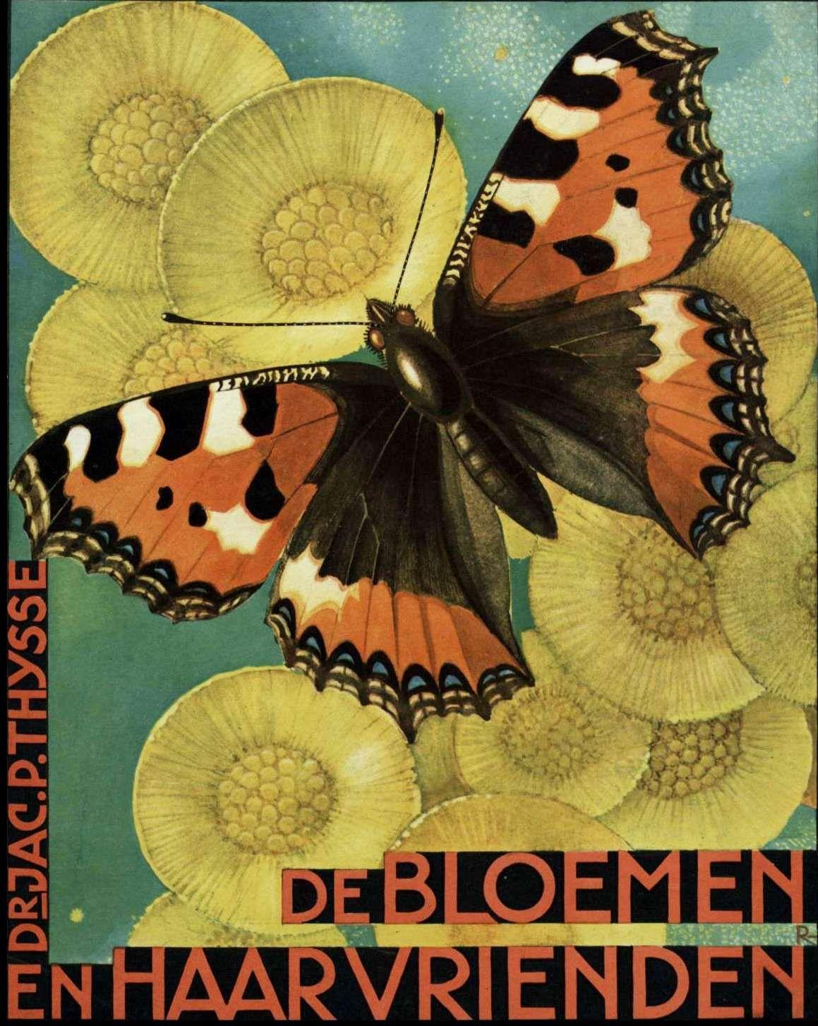 De Bloemen en Haar Vrienden - Verkade Plaatjesalbum    Jac. P. Thijsse   1934
