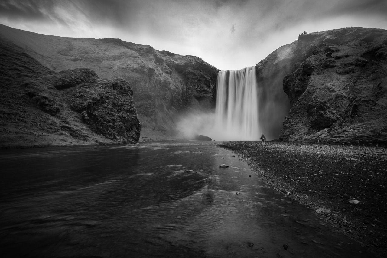 Essence - #and #black #iceland #landscape #meolog #on #photographers #skogafoss #source #tumblr #white