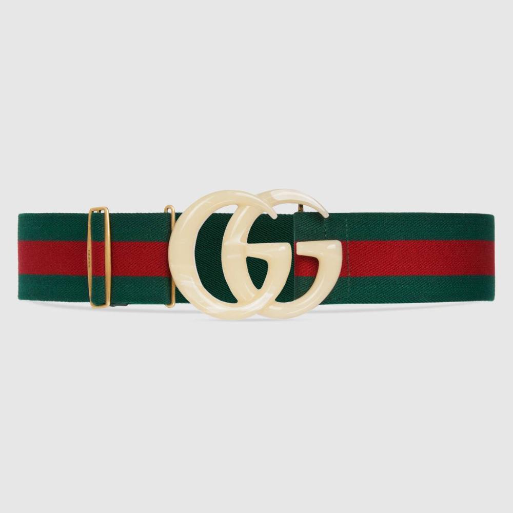 Gucci Elastic Web Belt With Double G Buckle Wide Belts For Women Belt Belts For Women