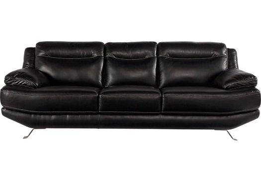 Swell Sofia Vergara Castilla Black Leather Sofa Guitar Room Inzonedesignstudio Interior Chair Design Inzonedesignstudiocom