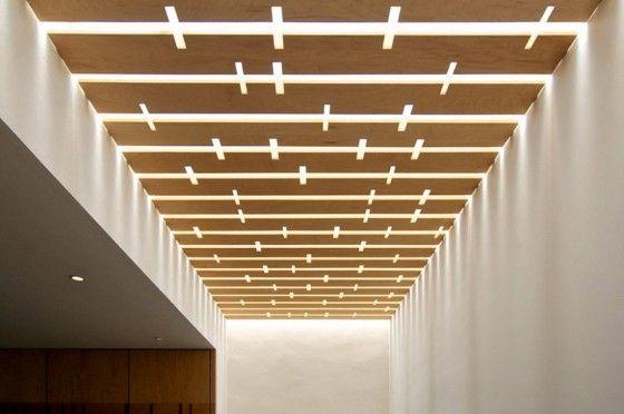 Diseño de moderna casa de dos plantas, incluimos planos de - Techos Interiores Con Luces
