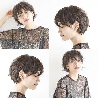 ショートボブ アンニュイほつれヘア デート ショート×『send by HAIR』×ショートヘア美容