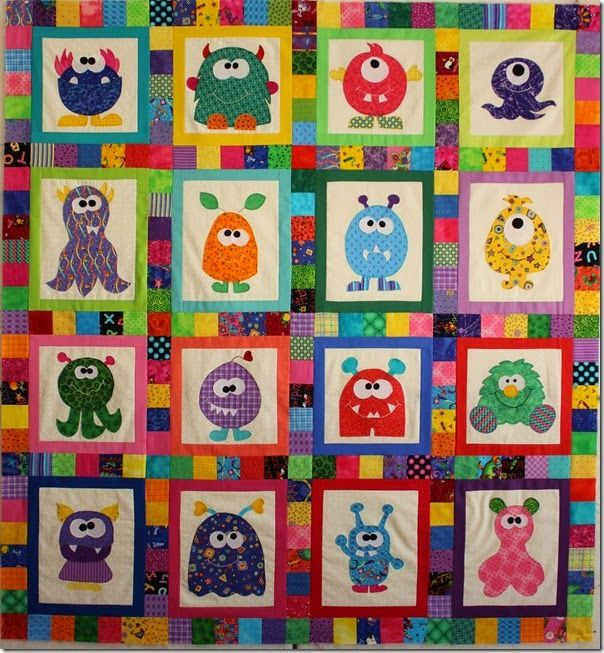 Img5588 Monster Quilt Quilts Applique And Patchwork Pinterest