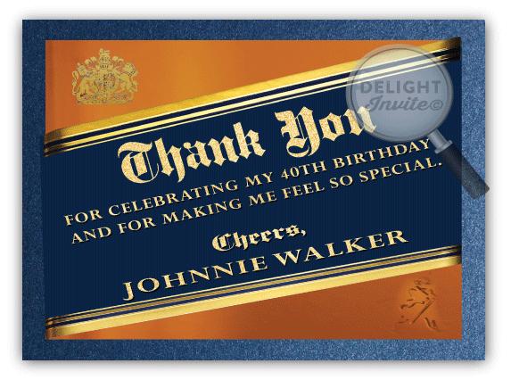 Johnnie Walker Blue Label 40th Birthday Party Invitations Di 556 40th Birthday Party Invites 40th Birthday Parties 40th Birthday