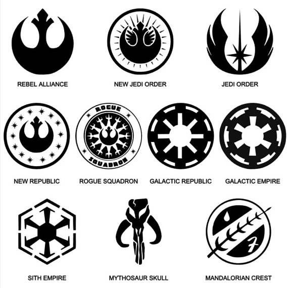 Star Wars Logos And Symbols Vinyl Decals Dal Pinterest Star
