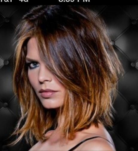 Hairstyles For Medium Length Prepossessing Medium Length Two Tone Hair  Medium Length Ombre Hair Color  Hair